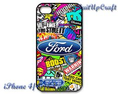 FORD Sticker Bomb RS Fiesta Focus iPhone 5 Case by SuitUpCraft, $14.99