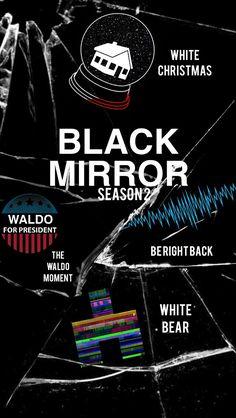 Black Mirror posters season 1-3