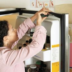 Repair the rubber gasket seal on your fridge if it's loose or shows signs of mold and moisture, which will improve the fridge's cooling abilities and slash your electric bill.