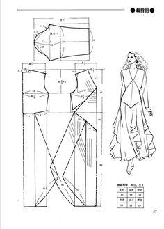 Skirt- Pattern Only - Salvabrani Sewing Patterns Free, Clothing Patterns, Dress Patterns, Pattern Cutting, Pattern Making, Sewing Clothes, Diy Clothes, Mode Cool, Barbie