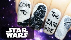 Star Wars ⎮ Darth Vader ⎮ Come to the Dark Side ⎮ Freehand Nail Art Tutorial