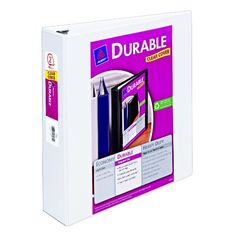 Avery Durable View Binder with 2-Inch Slant Ring, Holds 8.5 x 11-Inch Paper, White, 1 Binder (17032) Avery,http://www.amazon.com/dp/B001B0CTMU/ref=cm_sw_r_pi_dp_thP3sb1NVR4D3099