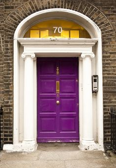 Image result for House with Purple Front Door