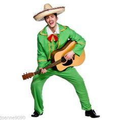 MENS TORTILLA GUY FANCY DRESS COSTUME MEXICAN BAND DORITOS MARIACHI SUIT PLUS | eBay