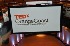 Stage Design and screen tests - TEDxOrangeCoast 2012 - Preparation Day