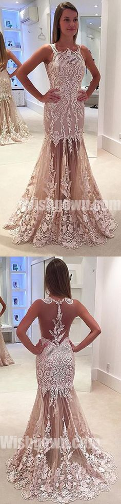 Affordable Unique Sexy Applique Lace Charming Long Prom Dresses, WG1083 #promdress #promdresses #longpromdress #longpromdresses #dress #dresses