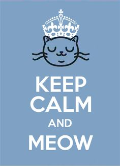 KEEP CALM and MEOW.