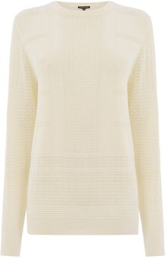 Womens cream jumper from Warehouse - £38 at ClothingByColour.com