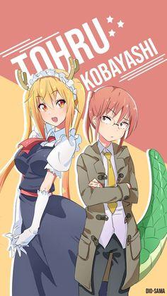 Lady Tohru and Miss Kobayashi : Miss Kobayashi's Dragon Maid Anime Character Names, Anime Characters, Chica Anime Manga, Anime Art, Anime Images, Kobayashi San Chi No Maid Dragon, Miss Kobayashi's Dragon Maid, Anime Girl Drawings, Seven Deadly Sins Anime
