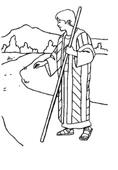 Kids Coloring Page From Whats In The Bible Showing Peter