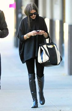 Olivia Palermo stuart weitzman #5050 boots #celebrity #style