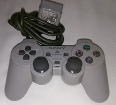 (*** http://BubbleCraze.org - If you like bubble games for Android/iPhone, you'll LOVE this one. ***)  SONY PLAYSTATION 1 (PS1) DUAL SHOCK ANALOG CONTROLLER SCPH-1200 GRAY