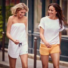 Model Veronika Krajplova and WTA Alizé Lim