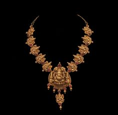 Ganesha gold necklace, southern India