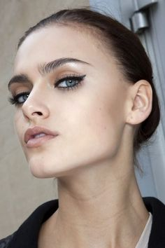 Beautiful winged eye liner.
