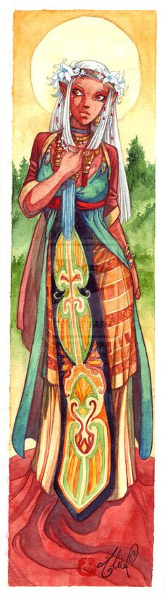 Weena - bookmark commission by *Alice-Bobbaji on deviantART