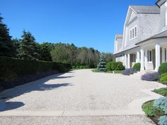 Gravel and stone driveway