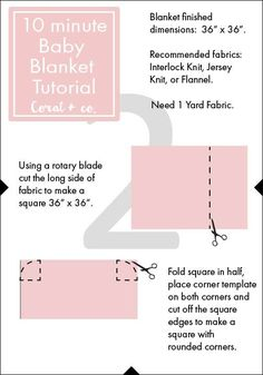 Easy DIY Baby Swaddle Blanket Pattern and TutorialDIY Baby Swaddle Blanket Pattern - Coral + Co.Today I have another great baby project: Easy DIY Baby Swaddle Blanket Pattern and Tutorial which sews up quickly in 10 minutes.. This is perfect for anyone who wants to make a quick gift for a new baby! Often many store bought swaddle blankets are never quite big enough to get a good swaddle, by making your own you can make one large enough for baby to grow and still wrap them up tight. Also…