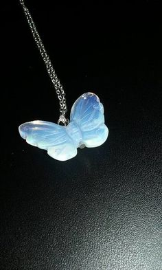 Moonstone Butterfly Necklace