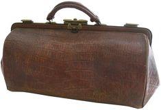 schell vintage doctor bag images | French Vintage Leather Doctor's Bag