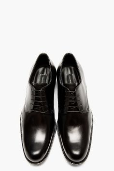 DSQUARED2 Black Smooth Leather Lace Up Shoes
