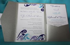 light turquoise and purple wedding | Dark purple, light purple, dark gray, silver and turquoise Hawaiian ...