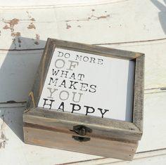 Happy Wooden Keepsake Box.