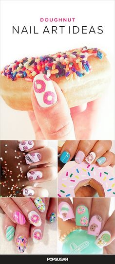 We may dabble in sugar- and gluten-free diets, but we'll never stop indulging in dessert — at any time of day. If you just can't seem to kick your sweet tooth, then glaze your nails with some doughnut inspired nail art.
