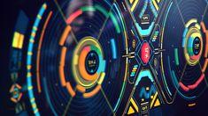 Alien-ish Interface practice, Davison Carvalho on ArtStation at https://www.artstation.com/artwork/bJewE