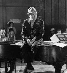 Frank Sinatra and Count Basie at the piano, 1965.