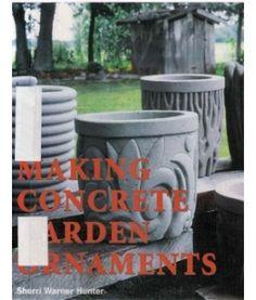 Haciendo adornos de concreto para el jardín