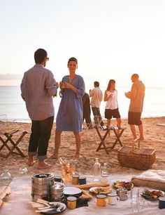 picnic at the beach with friends