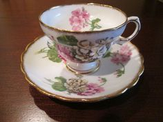 Vintage Rosina Bone China Tea Cup and Saucer - Made in England
