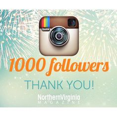 """Thank you to all our fans and readers for making 1⃣0⃣0⃣0⃣ happen! To celebrate, we're giving two lucky winners one-year #NoVAMag subscriptions. Simply """"like"""" this post and tag a friend in the comments below or on Facebook. Giveaway ends at 9am tomorrow and the winners (chosen randomly) will be notified shortly after! #ThankYou #1000followers #Giveaway"""