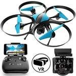 Force1 Drones With Camera - U49W Blue Heron Wifi Fpv Drone Live Video + Bonus Battery Toy