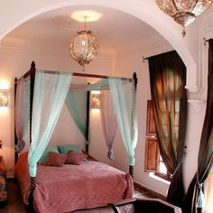 Slaapkamer in zachte tinten
