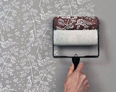 Roller sponge pattern.