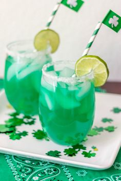 Leprechaun Coolers...fun St. Patrick's Day drink for kids!
