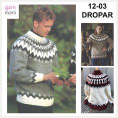 36-17 FLÓI Modell 2 - Garnmani.no - Spesialist på islandsk ull Iceland, Christmas Sweaters, Crochet, Indigo, Men Sweater, Graphic Sweatshirt, Sweatshirts, Fashion, Hot Pink