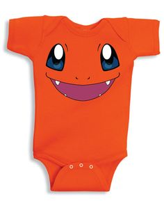 Inspired by Charmander face Pokemon Onesie new born to 24 months sizes very cute baby youth
