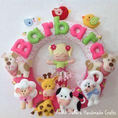 Guirlanda Porta de Maternidade Bichinhos da Barbara
