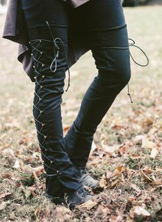 Huntress speed lace leg warmers