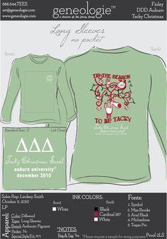 Tri Delta. This is such a cute shirt!