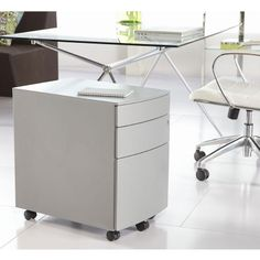 Floyd File Cabinet, Axel Office Chair and Atos Desk Contemporary Furniture, Contemporary Style, Modern Office Storage, Mobile File Cabinet, Office Furniture, Filing Cabinet, Modern Design, Euro, Cabinets