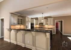 Intricate details complete this kitchen design. The Travis #1350. www.dongardner.co.... #Kitchen #HomePlan #DreamHome