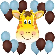 Boy Jolly Giraffe - Balloon Kit for Baby Showers $9.99