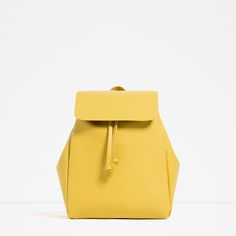 ZARA - WOMAN - BACKPACK WITH FOLDOVER FLAP -- I am in love.