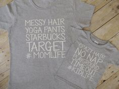 mommy and me mom life starbucks target mom shirt by Our5loves