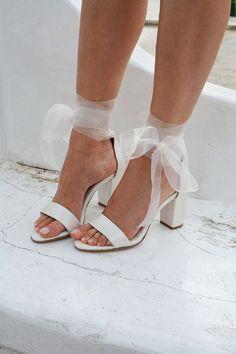 White Wedding Shoes, Wedding Shoes Heels, Bride Shoes, Ivory Wedding, Sandals Wedding, Wedding Shoes Bride, Wedding Heals, White Lace Heels, Wedding Shoes Block Heel