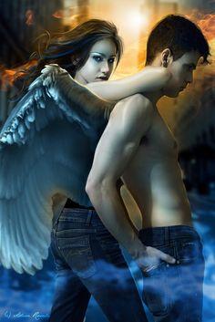 "Cover of E. Van Lowe's second book in the Falling Angels Saga, *Earth Angels""- by Adara Rosalie"